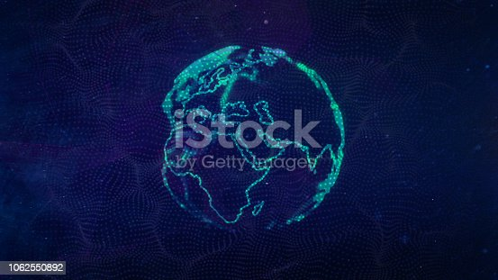 1169711469istockphoto Global communication concept. Technological abstract background 1062550892