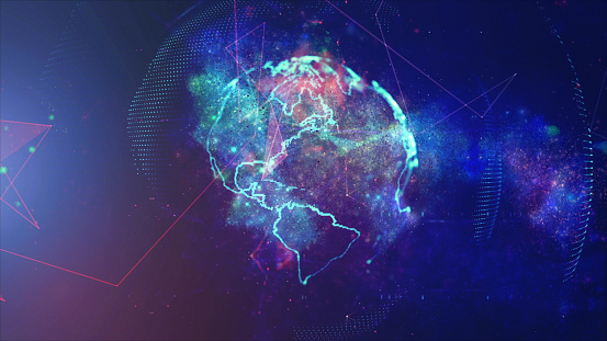 Global communication concept. Technological abstract background