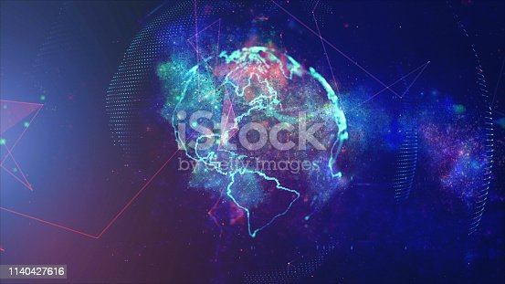 istock Global communication concept. Technological abstract background 1140427616