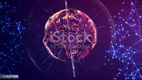 istock Global communication concept. Technological abstract background 1140427666