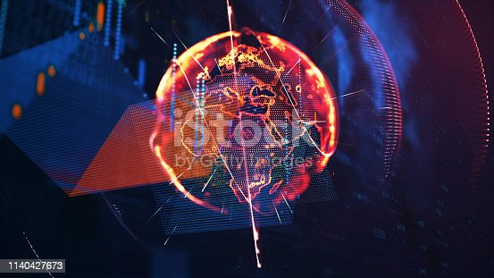 istock Global communication concept. Technological abstract background 1140427673
