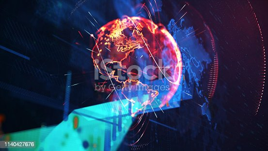1140427616 istock photo Global communication concept. Technological abstract background 1140427676