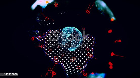 1140427616istockphoto Global communication concept. Technological abstract background 1140427688