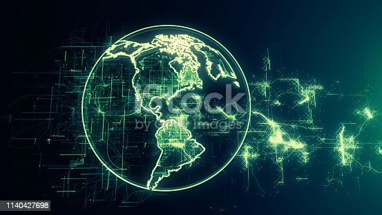 1140427616istockphoto Global communication concept. Technological abstract background 1140427698