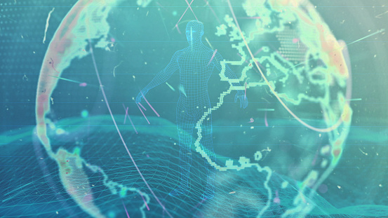1140427616 istock photo Global communication concept. Technological abstract background 1197480319