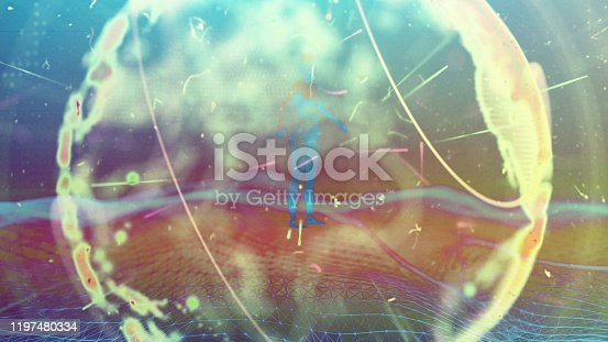 1140427616istockphoto Global communication concept. Technological abstract background 1197480334