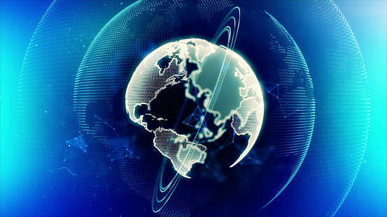 1140427616 istock photo Global communication concept. Technological abstract background 1197480356