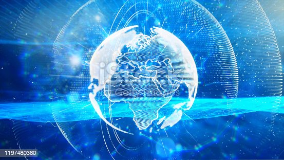 1140427616istockphoto Global communication concept. Technological abstract background 1197480360