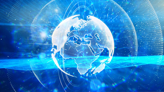 1140427616 istock photo Global communication concept. Technological abstract background 1197480360