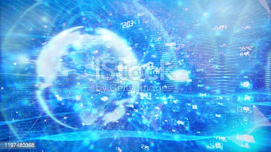 1140427616istockphoto Global communication concept. Technological abstract background 1197480368