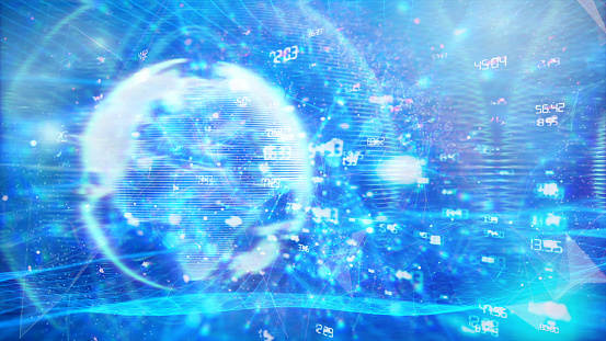1140427616 istock photo Global communication concept. Technological abstract background 1197480368