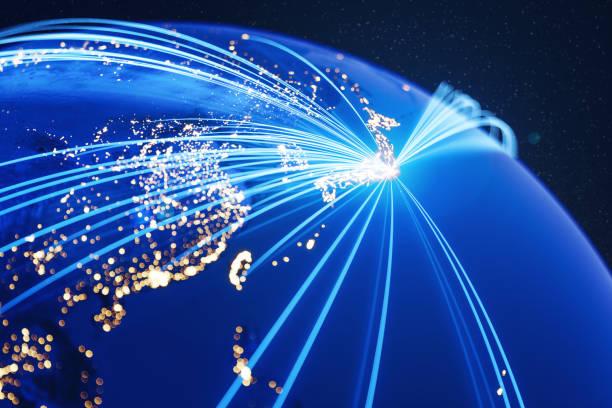 東京 (nasa に世界地図の単位) からグローバル ・ コミュニケーション - 地球の写真 ストックフォトと画像