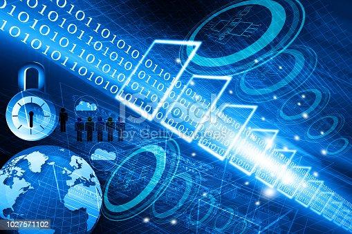 istock Global communication futuristic technology 1027571102
