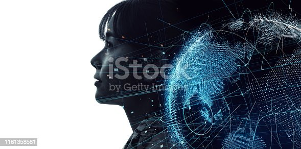 1054574034istockphoto Global communication network concept. Artificial Intelligence. 1161358581