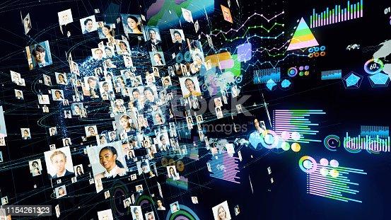 istock Global communication network concept. Diversity. 1154261323