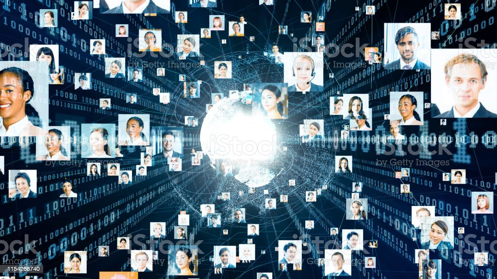Global communication network concept. Diversity. - Royalty-free 5G Stock Photo