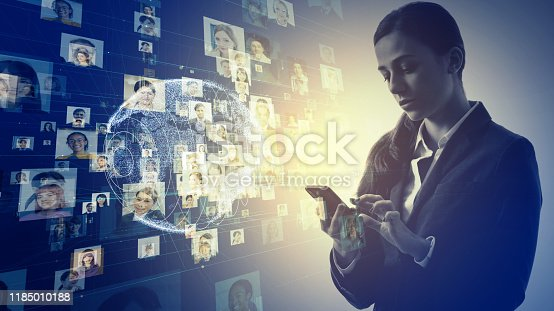 istock Global communication network concept. Diversity. Social networking service. 1185010188