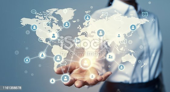 811259350istockphoto Global communication network concept. Global business. 1161358578