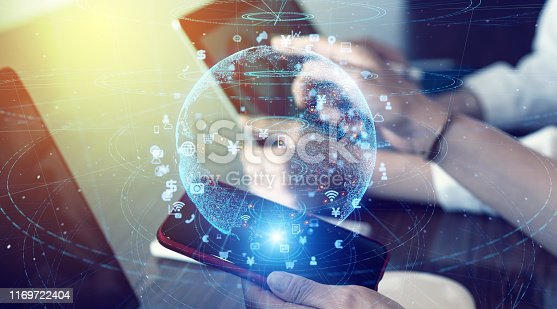 istock Global communication network concept. Network business. 1169722404