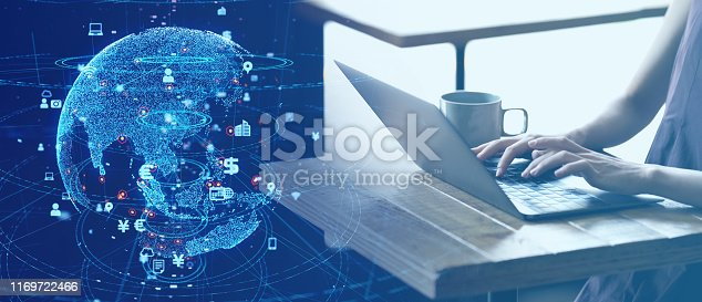 1169711469istockphoto Global communication network concept. Network business. 1169722466