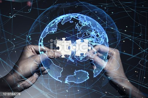 811259350istockphoto Global communication network concept. 1019164276