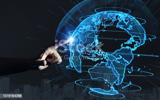 istock Global communication network concept. 1019164288