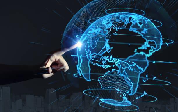 全球通信網路的概念。 - 亞太地區 個照片及圖片檔