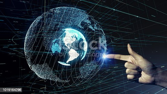 istock Global communication network concept. 1019164296
