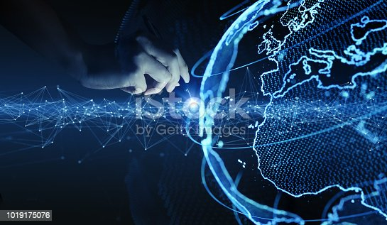 istock Global communication network concept. 1019175076