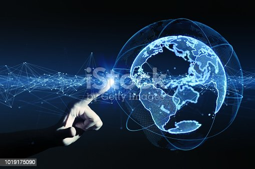 istock Global communication network concept. 1019175090