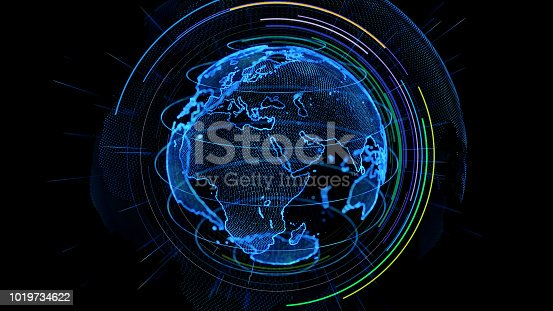 istock Global communication network concept. 1019734622