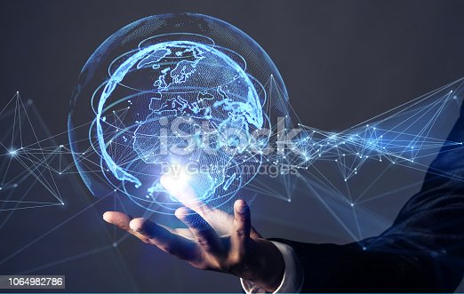 istock Global communication network concept. 1064982786