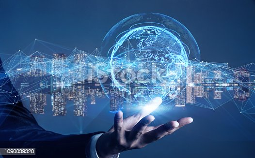 istock Global communication network concept. 1090039320