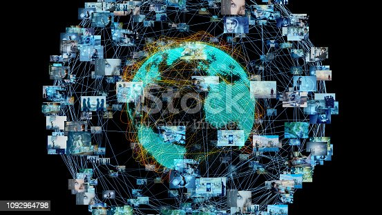 1129543888 istock photo Global communication network concept. 1092964798
