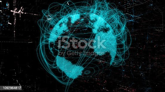 istock Global communication network concept. 1092964812