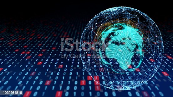 istock Global communication network concept. 1092964816