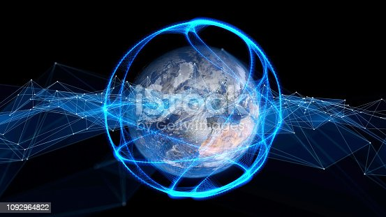 istock Global communication network concept. 1092964822