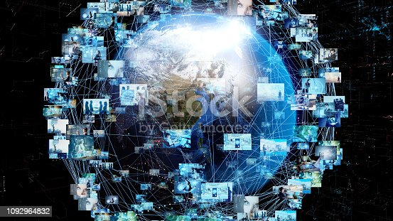 1129543888 istock photo Global communication network concept. 1092964832