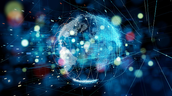 istock Global communication network concept. 1129514622