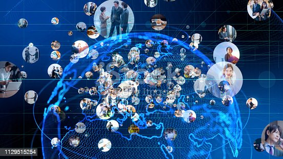 811259350istockphoto Global communication network concept. 1129515254