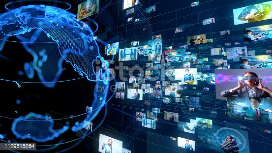 istock Global communication network concept. 1129515284