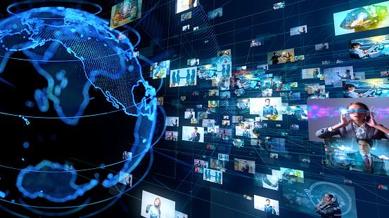 185274311 istock photo Global communication network concept. 1129515284