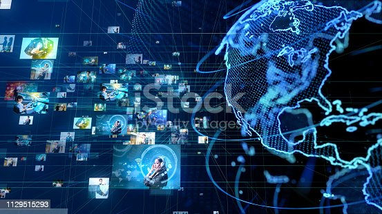 istock Global communication network concept. 1129515293