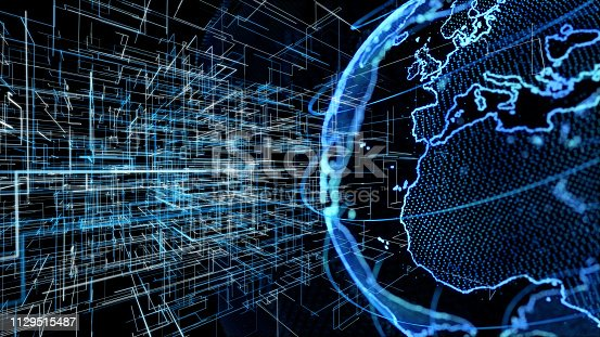 istock Global communication network concept. 1129515487