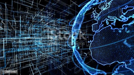 901627692istockphoto Global communication network concept. 1129515487