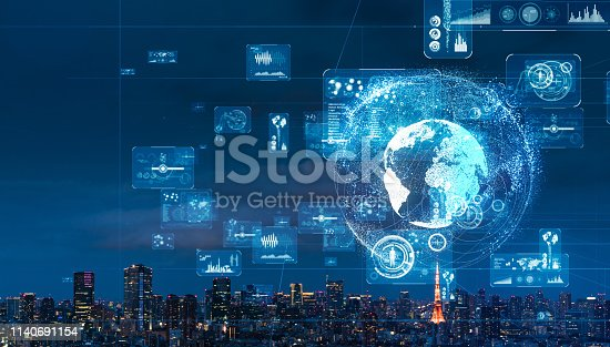 istock Global communication network concept. 1140691154