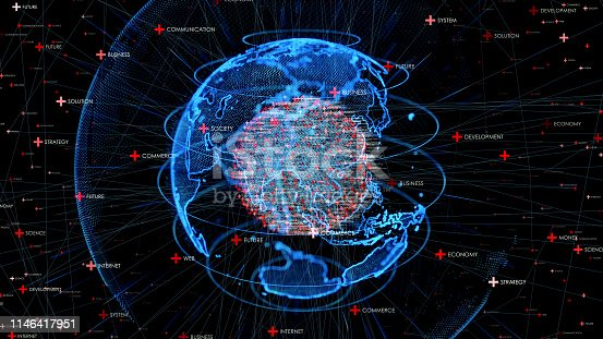 istock Global communication network concept. 1146417951