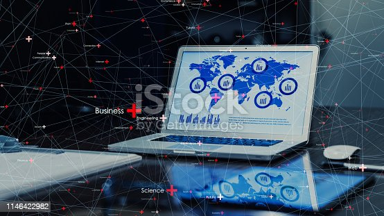 istock Global communication network concept. 1146422982