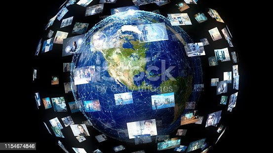 1129543888 istock photo Global communication network concept. 1154674846