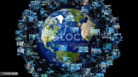 1129543888 istock photo Global communication network concept. 1154674848